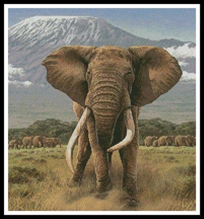 African Giants (Crop) by Artecy printed cross stitch chart